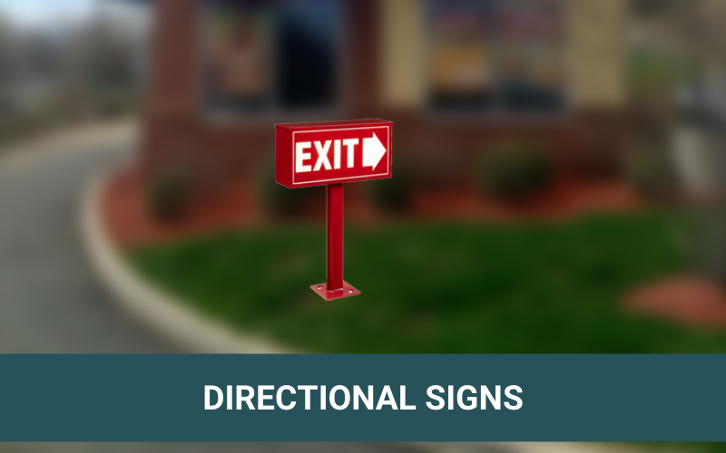 Drive-Thru Directional Sign