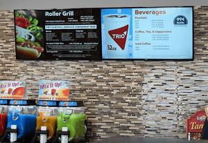 Digital Display in Convenience Store