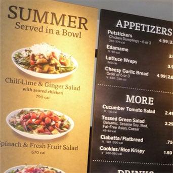 Noodles & Company Nationwide Store Menu Board Refresh