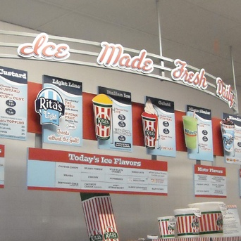 Rita's Italian Ice: Menu Board Design