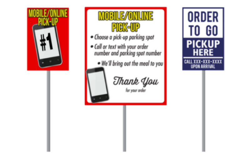 Curbside Pickup Stall Parking Signs