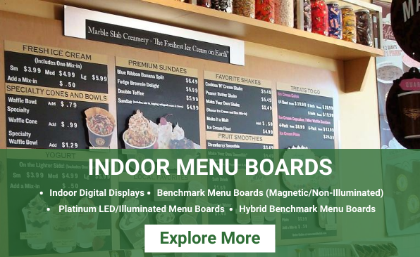 Indoor Menu Boards Solutions