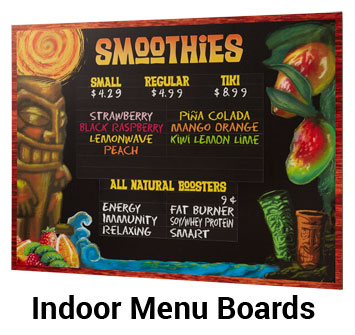 Indoor Menu Boards