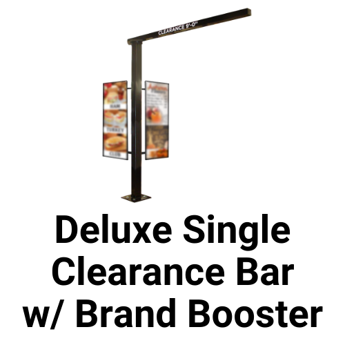 Drive-Thru Deluxe Single Clearance Bar With Brand Booster