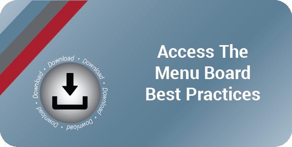 Menu Board Best Practices